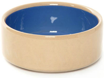 A ceramic water bowl